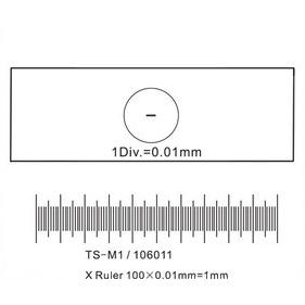 Kalibrierstreifen für Mikroskope (0,01 mm Teilung)