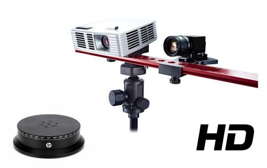 HP 3D Structured Light Scanner Pro S3 mit Scan-Drehteller