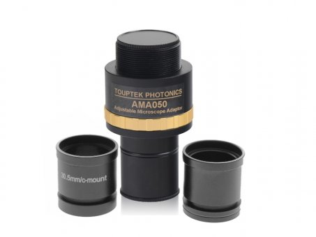 Adapter C-Mount to 23.2, 30 and 30.5 mm (0,5X - adjustable focal length)